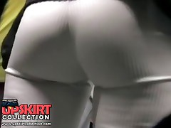 The sexy jeans video with the amateur doll whose tight booty was spied on the closeup