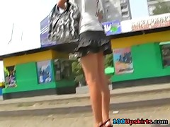 Real gal unwillingly flashed upskirt